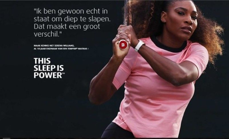 Serena Williams en Tempur